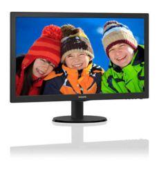 PHILIPS 23,6- LED, 1920x1080, 8ms, VGA-DVI-HDMI, 2,0W x 2 hoparlörlü Siyah Moni