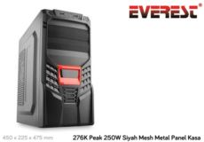 EVEREST 276K Peak 250W Siyah Mesh Metal Panel Kasa