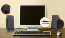 CREATIVE SBS A50,2W RMS,2+0 USB Speaker,Siyah