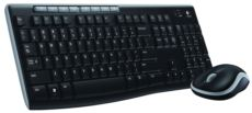 LOGITECH Mk270 Kablosuz Q Multimedya Tr Klavye&Mouse Set Siyah