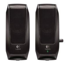 LOGITECH S120,2.3W RMS,3.5mm Jack Bağlantılı 1+1 Speaker,Siyah