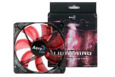 AEROCOOL Lightning 14cm Kırmızı Led fan AE-CFLG140RD