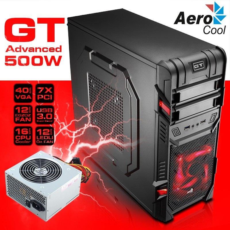 AEROCOOL AE-GTA-500 500W GT Advance Serisi USB3.0 MID Tower Kasa