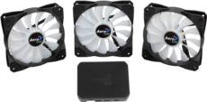 AEROCOOL P7-F12 Pro 3 x 12cm RGB Led Fan + RGB-Fan Kontrolcü Fan Hub AE-P7F12-PRO