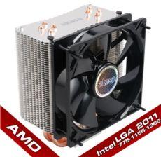 AKASA Nero 3 AMD-Intel LGA 775-1156-1155-1366-2011 12cm fan İşlemci Soğutucusu AK-CC4007EP01