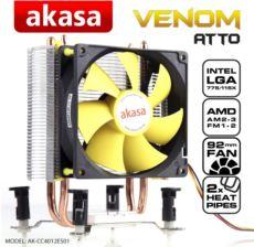 AKASA VENOM ATTO Intel Lga775-115x ve AMD AM2-AM3+-FM1-FM2 Cpu soğ.