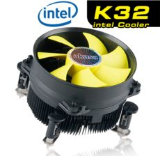 AKASA K32 Intel LGA 775-1155-1156 PWM 9cm fan Performans CPU Soğutucu