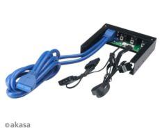 AKASA FC 06U3BK ,2xUSB 3.0 Ön Panel ve 3xFan Kontrolcü