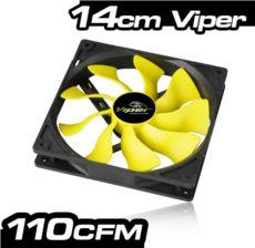 AKASA -Viper- 14cm S-Flow Yüksek Performanslı Sessiz Fan AK-FN063