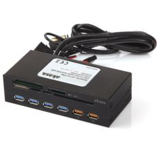 AKASA 5.25 -Panel 4xUSB3.0 2x Hızlı şarj kart okuyucu reader AK-HC-07BK1