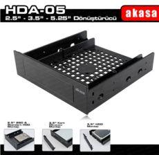 AKASA 5.25- Multi-Fonksiyonel 2.5--3.5- SSD - HDD Dönüştürücü Aparat AK-HDA-05