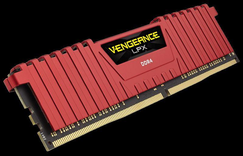 DDR4- CORSAIR VENGEANCE Kırmızı 2400Mhz CL14 16GB (2X8GB) DUAL