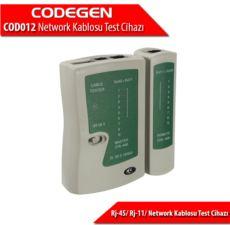 CODEGEN Rj-45- Rj-11- Network Kablosu Test Cihazı + Pil Dahildir