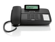 GIGASET Kablolu Masaüstü Telefonu Caller id 100 Rehber Siyah