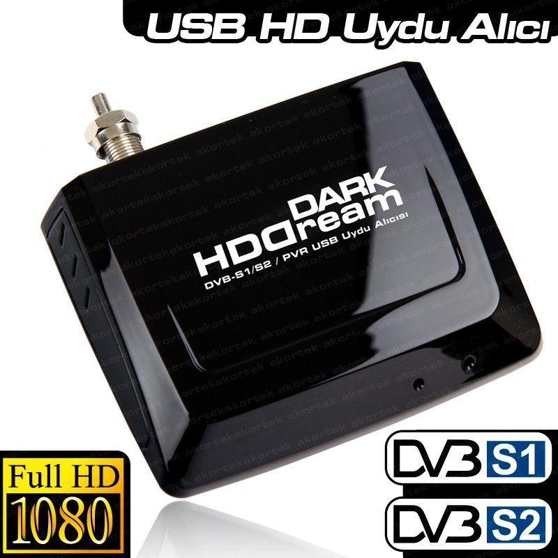 DAR KHDDREAM Zaman Ayarlı Kayıt, Harici Mobile USB DVB S/S2 Uydu TV Kartı