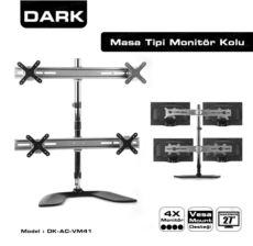 DARK 4 Monitör Destekli Ayarlanabilir Masa Tipi VESA 13--23-LCD monitör kolu