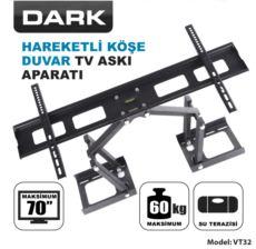 DARK 37-70- Hareketli Köşe ve Duvar Terazili TV Askı Aparatı