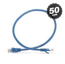 DARK Cat6 0.5m UTP Awg 24-7 Bakır Mavi Patch Network Kablosu