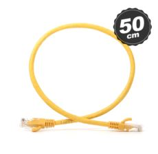 DARK CAT6 0.5M UTP Awg 24-7 Bakır Sarı Patch Network Kablosu