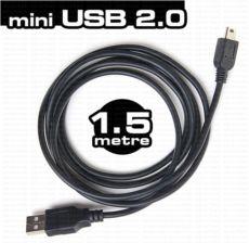 DARK 1.5 Metre USB 2.0 USB - Mini USB 5 Pin Kablo