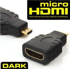 DARK Mic.HDMI-HDMI Dönüşt. Tel.Tablet.U.book.Cam(HDMI Dişi-Mic.HDMI Erkek)
