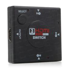 DARK 3 Giriş 1 Çıkışlı Uzaktan Kumandalı HDMI Switch (Seçici)