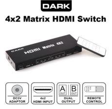 DARK 4 Giriş 2 Çıkışlı Uzaktan Kumandalı Full Hd HDMI Switch