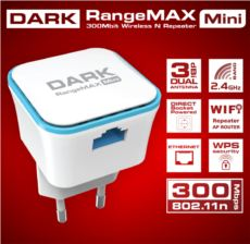 DARK WRT360 300Mbit 2x3dBi Dahili Antenli 802.11n WiFi Mini Repeater-Router