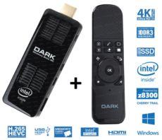 DARK Intel Z8300 4 Çekirdekli 2GB-32GB Win10 - Sunum Kumandalı MINIPC