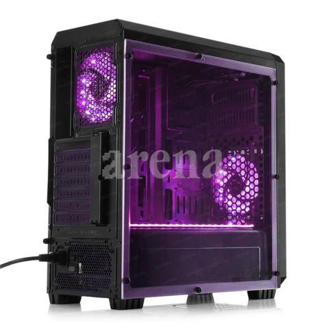 DARK DKCHSENTINELRGB Powersız Pencereli 3x12cm 18x RGB LED Fan ATX Gaming Kasa