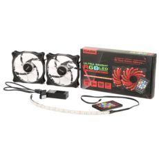 DARK Ultra Bright RGB Multi LED Fan ve Şerit Kit (2x120mm Fan ve 35cm LED Şer