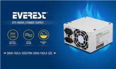 EVEREST Real 200W Peak-250W Atx 20+4 Pin Power Supply