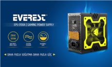 EVEREST Peak-300W Extra Soğutucu 12cm Sarı Fan Gaming Power Supply