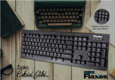 FLAXES FLX-162Q USB Q TR DAKTİLO TUŞ SU GEÇİRMEZ KLAVYE