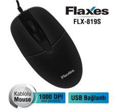 FLAXES FLX-819S 1000DPI USB Kablolu Siyah Mouse