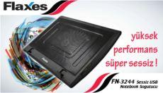 FLAXES 7- ve 17- Uyumlu 200mm Fanlı Mavi Işıklı Notebook Soğutucu