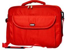 CLASSONE 15,4-15,6 Uyumlu Guard Lux Serisi Kasnaklı Notebook Çanta Siyah Kırmızı
