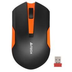 A4 TECH Kablosuz Nano 1000DPI V-Track 3B+1 Optik Siyah-Turuncu Mouse