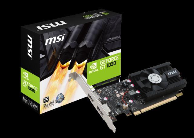 MSI GeForce GT 1030 2G LP OC GT1030 2GB GDDR5 64b DX12 PCIE3.0 x16 (HDMI DP)