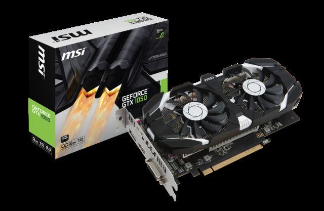 MSI GTX 1050 2GT OC GTX1050 2GB GDDR5 128b DX12 PCIE 3.0 x16