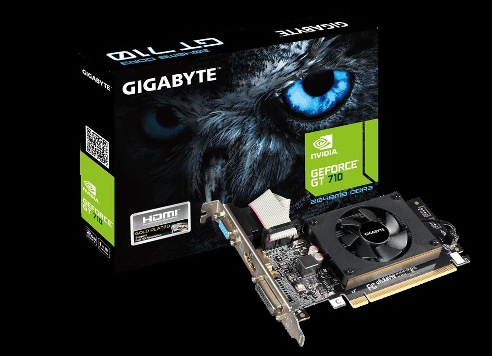 GIGABYTE GT710 1G 64b DDR3 VGA-DVID-HDMI NVIDIA EKRAN KARTI
