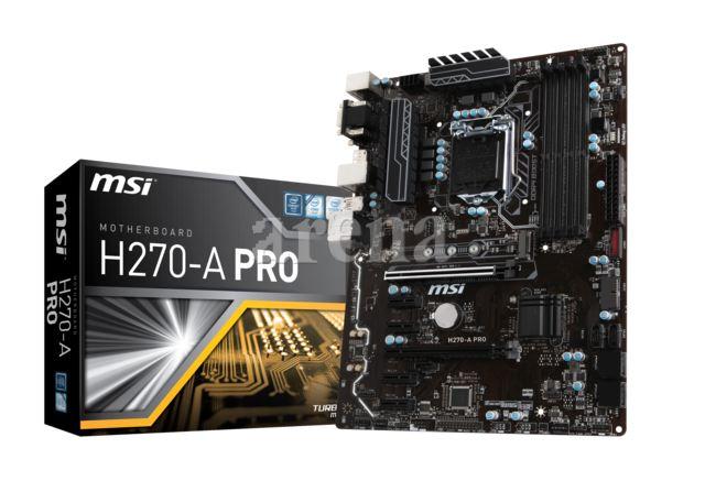 MSI H270-A PRO DDR4 2400 DVI VGA 6 x PCI-E M2 USB3.1 ATX (MINING)