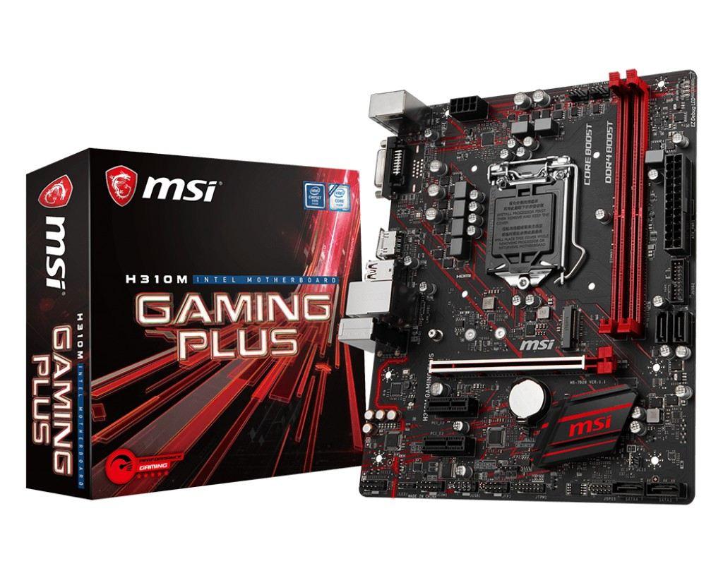 MSI H310M-GAMING-PLUS INTEL H310M 1151 DDR4 2666Mhz DVI&HDMI
