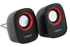 Classone Q1 Serisi K3000 1+1 USB 2.0 Hoparlör - Siyah - Kırmızı