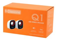 Classone Q1 Serisi K3002 1+1 USB 2.0 Hoparlör - Beyaz