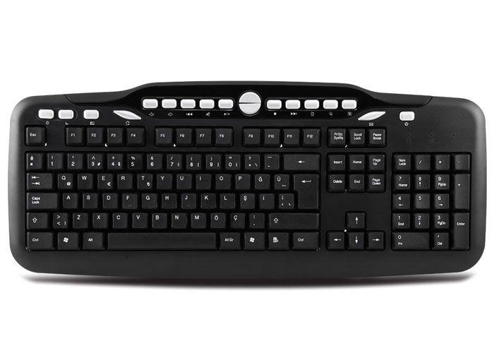 EVEREST KB-2609U Kablolu, USB, Q, TR MM Klavye, Siyah