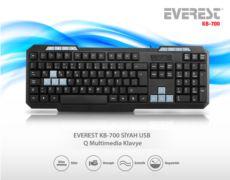 EVEREST Siyah USB Q Multimedia Klavye