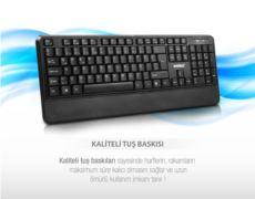 EVEREST OFFICAL Siyah Kablosuz Combo Q Multimedia Klavye+Mouse Set