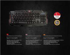 EVEREST KM-R77 Siyah Usb 3 Farklı Ledli Gaming Q Multimedia Klavye + Mouse Set