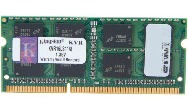 KINGSTON KVR16LS11-8 8GB, Notebook, DDR III, 1600MHz Memory 1.35 V